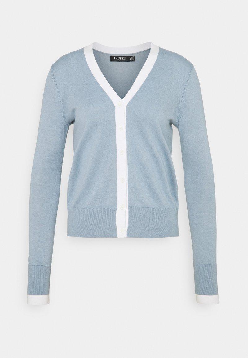 Lauren Ralph Lauren - CARDI - Cardigan - dust blue/white
