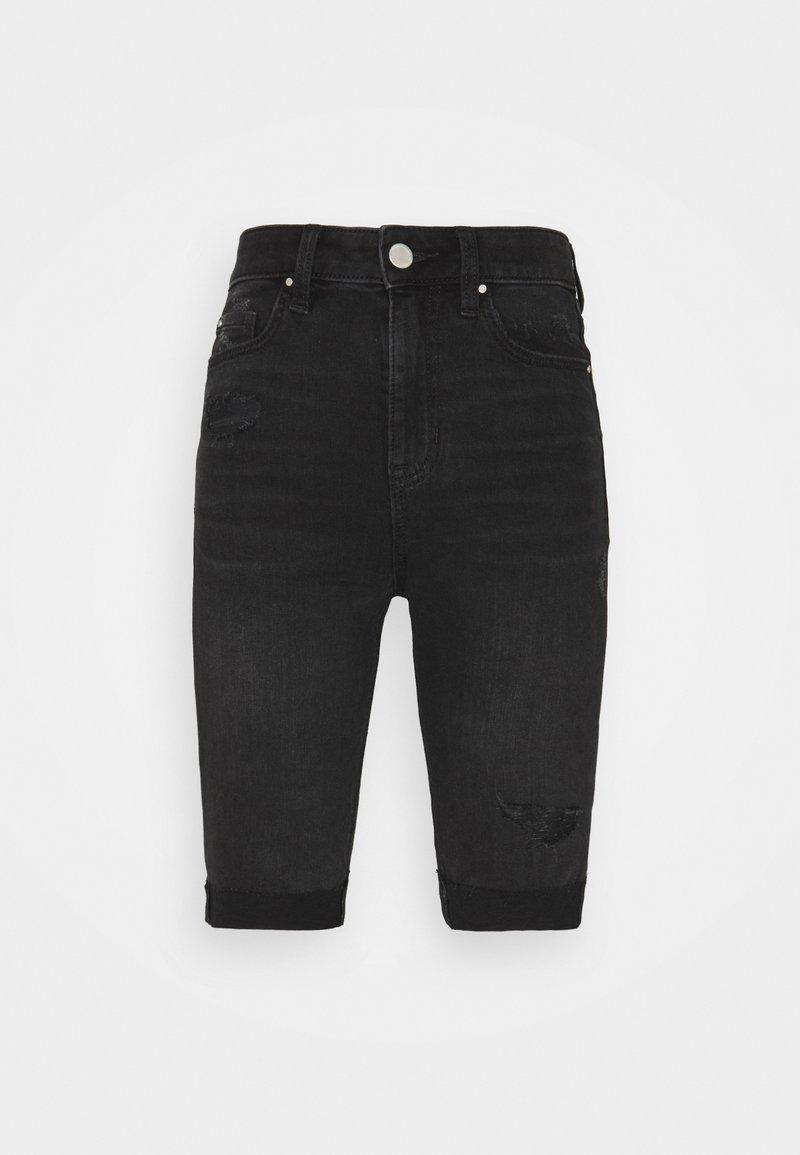 Marks & Spencer London - Denim shorts - black denim