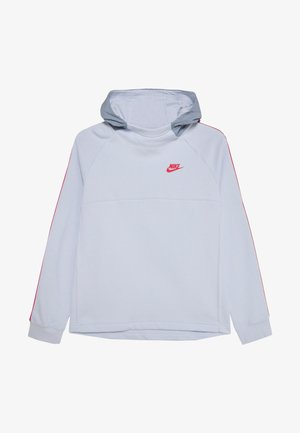 HYBRID  - Hoodie - obsidian mist/football grey/track red