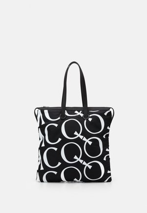LOGO MONOGRAM - Bolso shopping - black