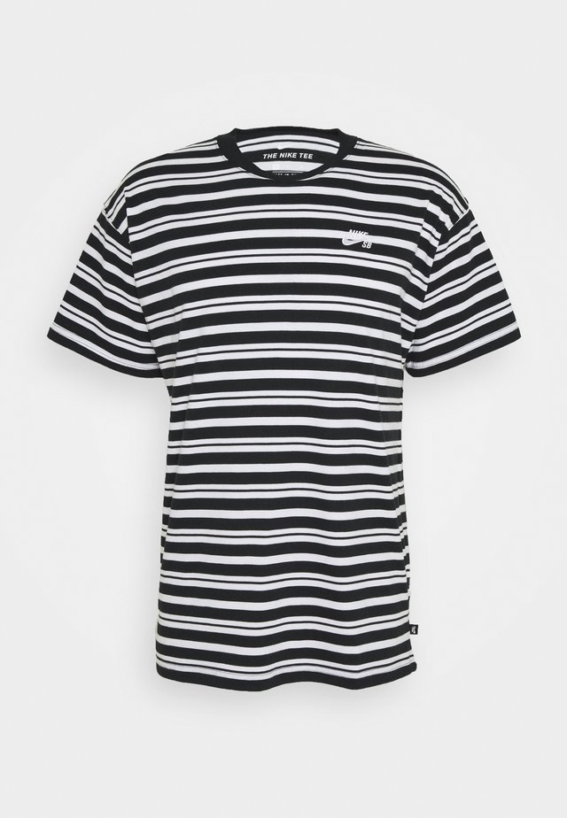 TEE STRIPE - T-shirt med print - black