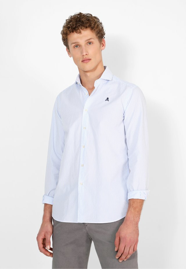 Zakelijk overhemd - blue stripes