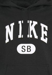 Nike SB - GRAPHIC HOODIE UNISEX - Sweatshirt - black/white - 2