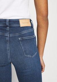 Calvin Klein - HIGH RISE - Jeans Skinny Fit - dark blue - 6