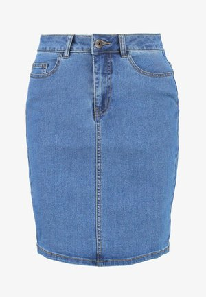 Bleistiftrock - medium blue denim