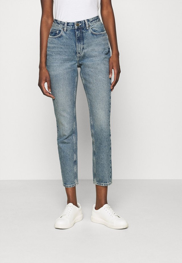 BUSBOROW - Jeans a sigaretta - blue dirty