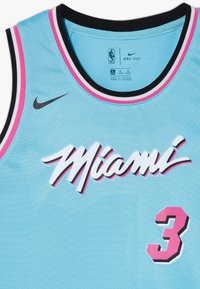 Nike Performance - NBA WADE DWAYNE MIAMI HEAT CITY EDITION SWINGMAN - Klubové oblečení - blue gale - 4