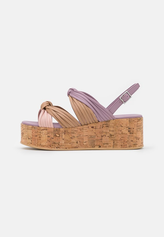 MAGIC - Sandalen met plateauzool - lilac/multicolor