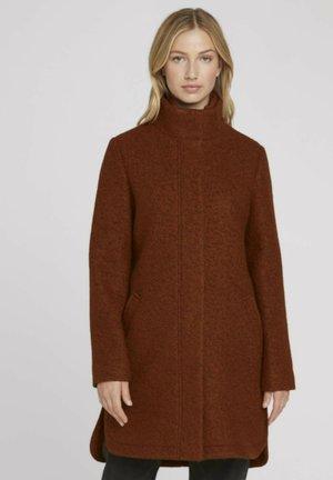 BOUCLE MANTEL - Short coat - amber brown melange