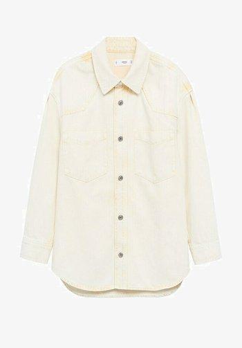 Button-down blouse - pastelgeel
