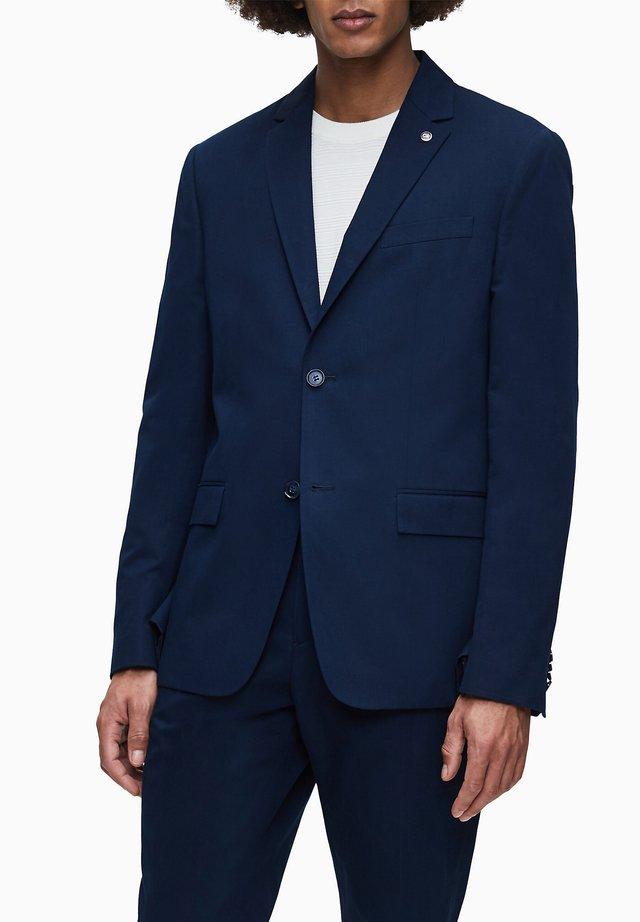 COTTON LINEN - Blazer jacket - calvin navy