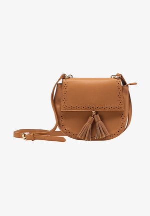 CROSSBODY BAG - Across body bag - cognac