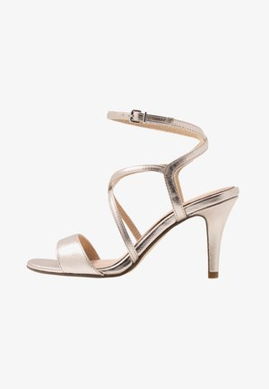 High heeled sandals - light gold