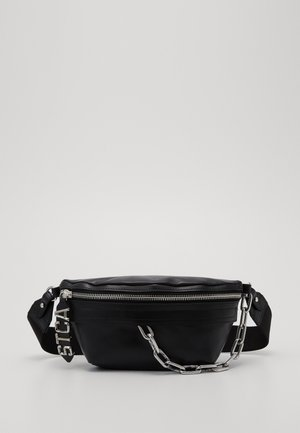 BAND WITH A CONTRAST LOGO - Sac banane - black