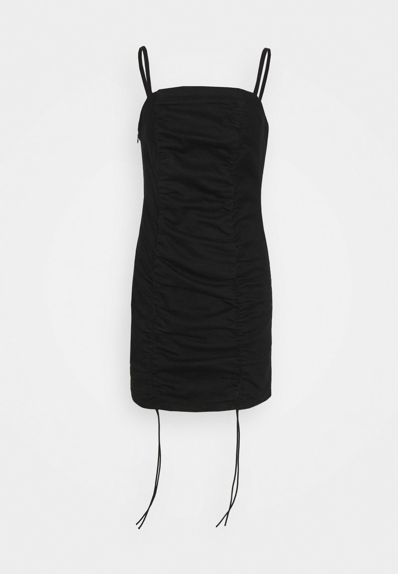 Topshop Petite - RUCHED BODYCON DRESS - Cocktail dress / Party dress - black