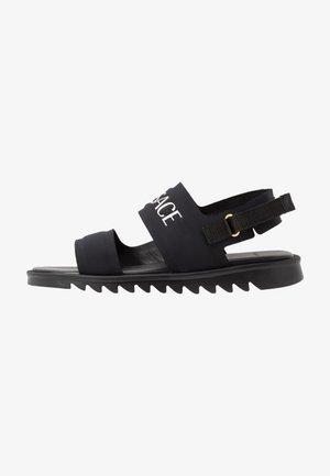 Sandals - nero/oro caldo