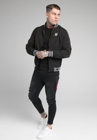 SIKSILK - CRUSHED  JACKET - Bomber Jacket - black - 1