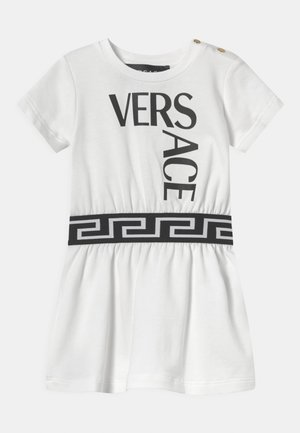 LOGO - Robe en jersey - bianco/nero