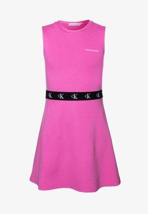 MONOGRAM PUNTO SKATER DRESS - Jersey dress - pink