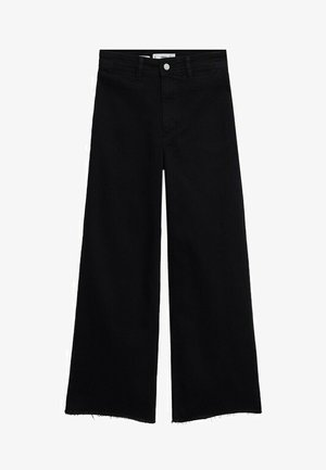 CATHERIN - Flared Jeans - black denim