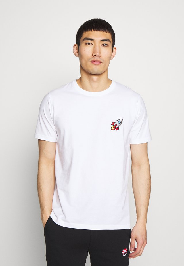 SPACESHIP SMALL - Print T-shirt - white