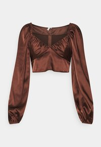 Nly by Nelly - RUCHED UP BLOUSE - Blouse - brown - 0