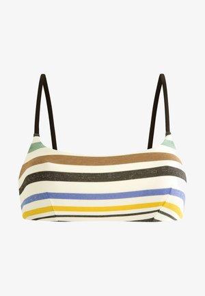 MIT STREIFEN - Bikini top - off-white