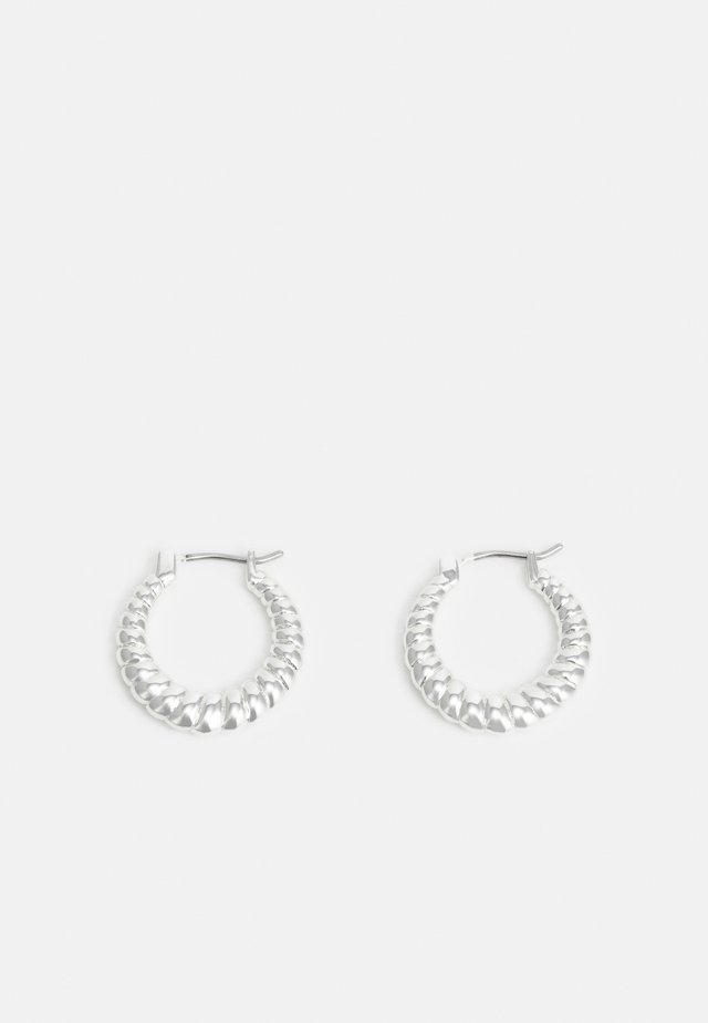 WAY ROUND EAR PLAIN - Earrings - silver-coloured