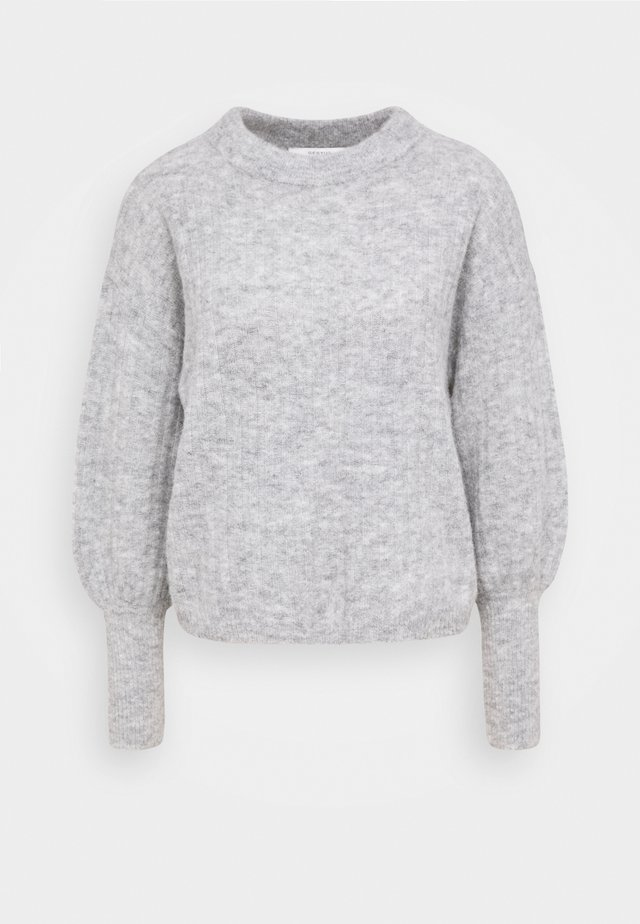 ALPIA - Stickad tröja - high-rise grey melange