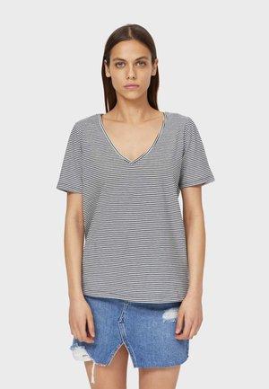 MIT V-AUSSCHNITT UND STREIFEN  - T-shirts print - black