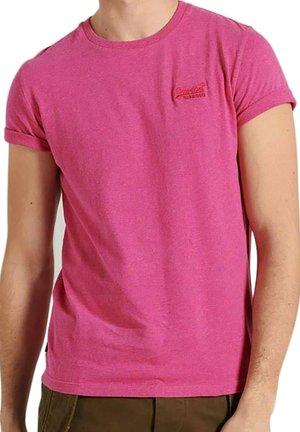 T-shirt print - magenta chiné