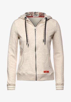 MIT INNENPRINT - Zip-up hoodie - beige