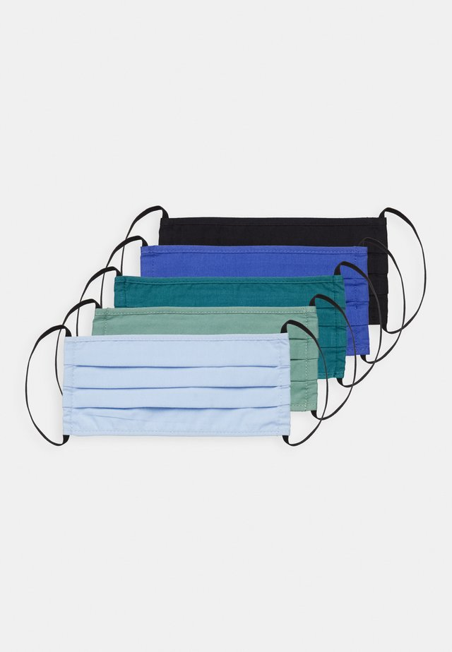 5 PACK - Masque en tissu - teal/green/black