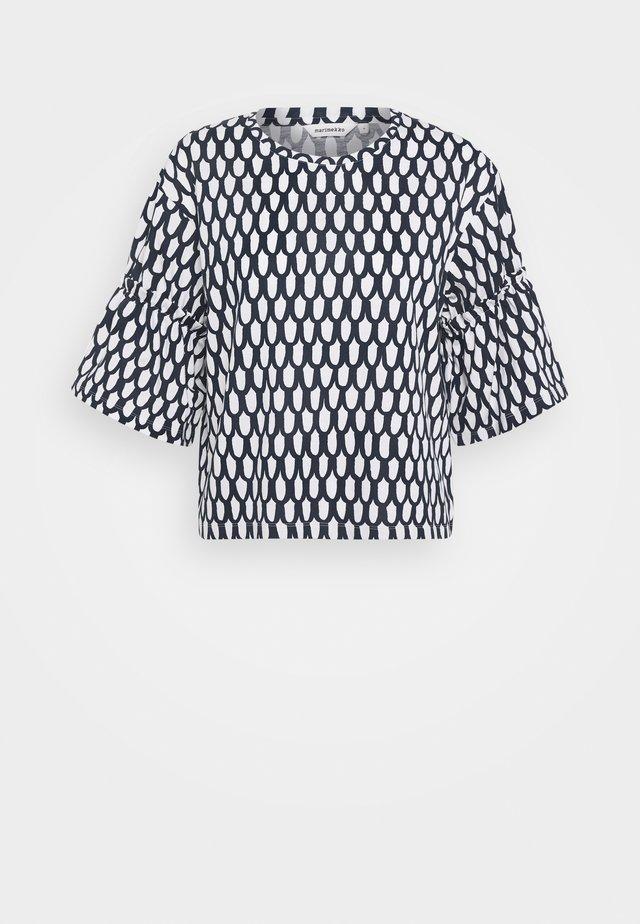 EKSYMÄ PIKKU SUOMU TUNIC - T-shirt con stampa - dark blue