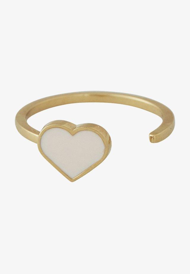 ENAMEL HEART RING - Ringe - nude