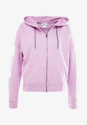 LINEAR LOGO FULLZIP - Zip-up hoodie - pink