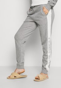 KARL LAGERFELD - LOUNGE UNISEX - Pyjama bottoms - grey melange - 0