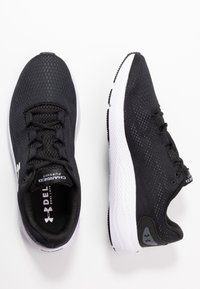 Under Armour - CHARGED PURSUIT 2 - Neutral running shoes - black/white - 1