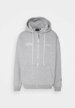 OFFICIAL ZIP HOODY - Mikina na zip - heather grey