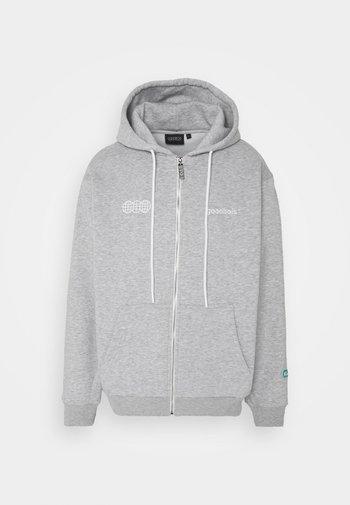 OFFICIAL ZIP HOODY - Zip-up sweatshirt - heather grey
