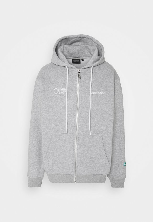 OFFICIAL ZIP HOODY - veste en sweat zippée - heather grey