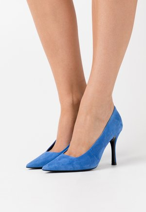 CODE DECOLLETE' T - High heels - bluette/nero