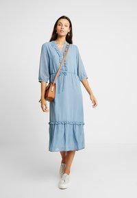 Moss Copenhagen - EVALINE 3/4 DRESS - Day dress - blue - 1