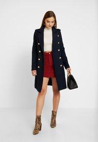 YAS - YASGOLDIAN COAT - Zimní kabát - navy blazer - 1