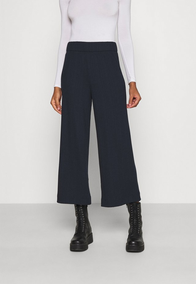 CILLA TROUSERS - Trousers - blue dark