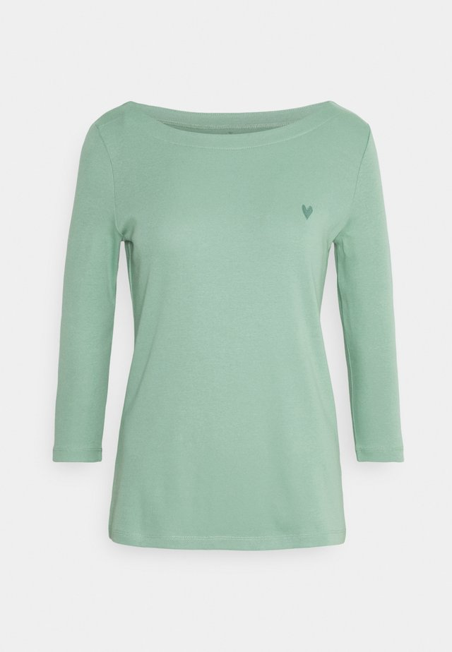 SOLID BOAD NECK - Long sleeved top - soft leaf green