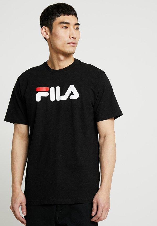 Fila PURE TEE - T-shirt z nadrukiem - black/czarny Odzież Męska PSRS