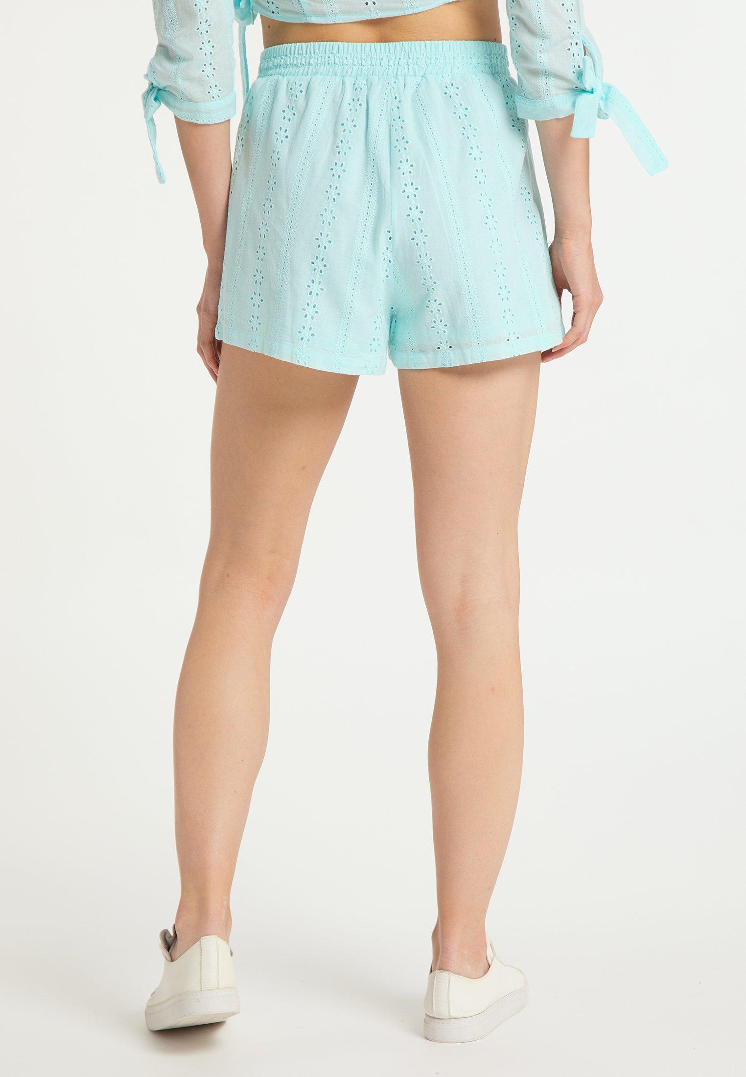Wholesale Quality Women's Clothing myMo Shorts hellblau PkR25wGNz