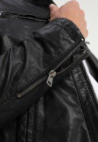 Serge Pariente - SEAN - Leather jacket - black/light grey hood - 6