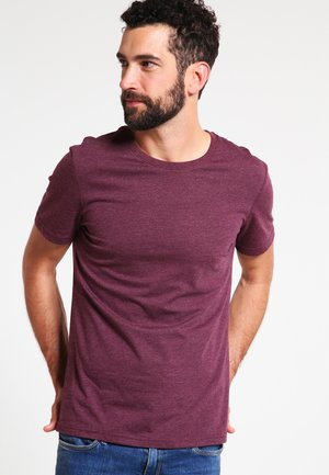 Basic T-shirt - bordeaux melange
